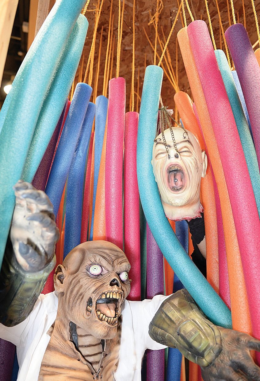 Crazy characters will run amok at the 18th annual Screamboat Haunted Tour, which will be open from 6 to 10 p.m. Friday, Saturday and Monday at Colorado Mountain College in Steamboat Springs. These characters portrayed by Steve Craig, left, and Brook Cinocco are regulars at the Steamboat Springs Halloween tradition.