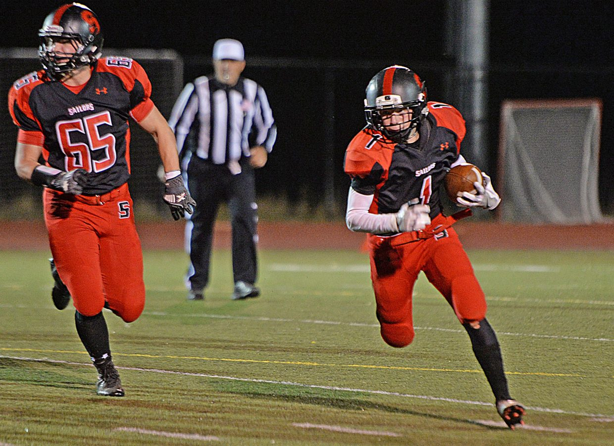 Canon Reece finds some running room during Friday night's game at Gardner Field.