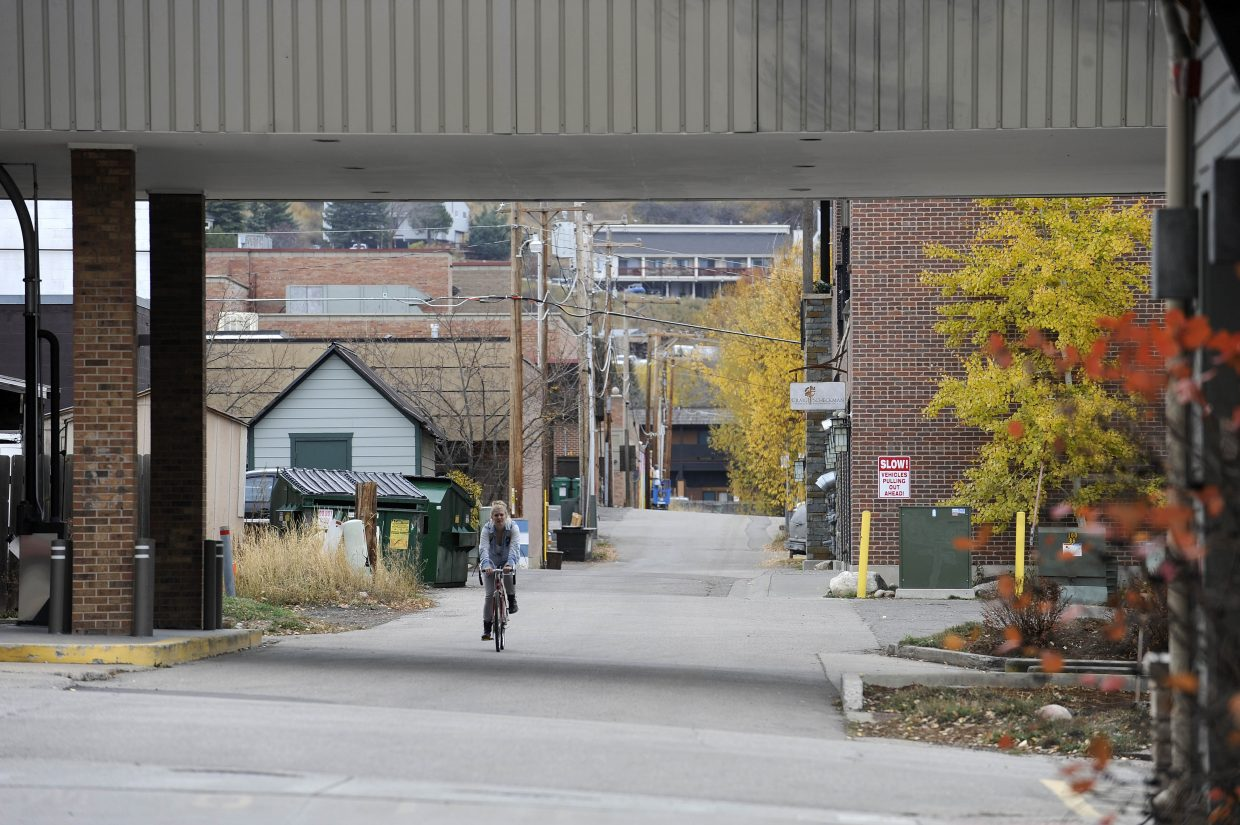 Main Street Steamboat Springs this spring is challenging business and property owners to spruce up their alleys to make them a more enjoyable experience.