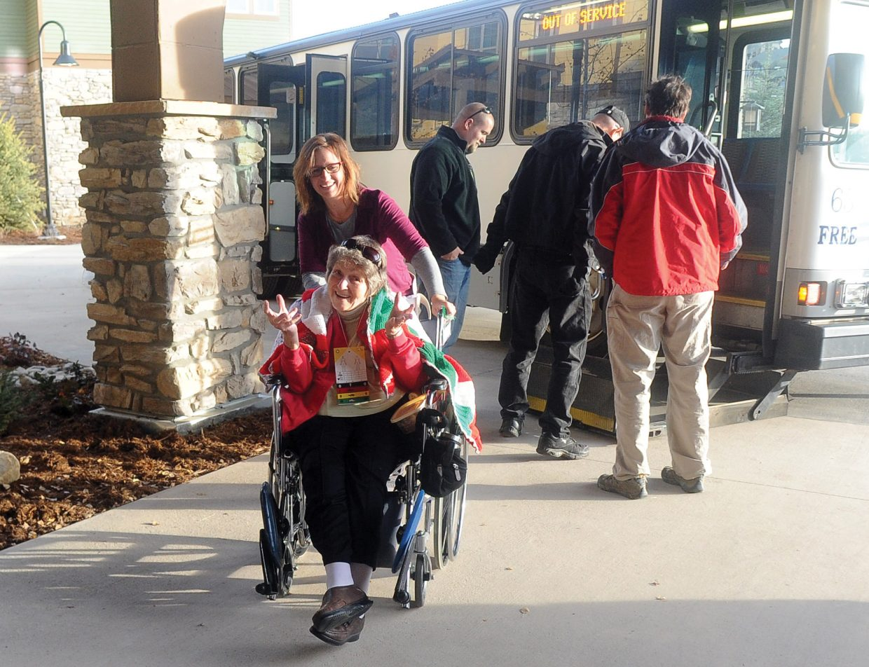 Tuesday was moving day for Doak Walker Care Center resident Bettie Pierce, who moved from the care center's old location at Yampa Valley Medical Center into the new facility at Casey's Pond. Staff members moved more than 50 residents into the new facility at Casey's Pond.