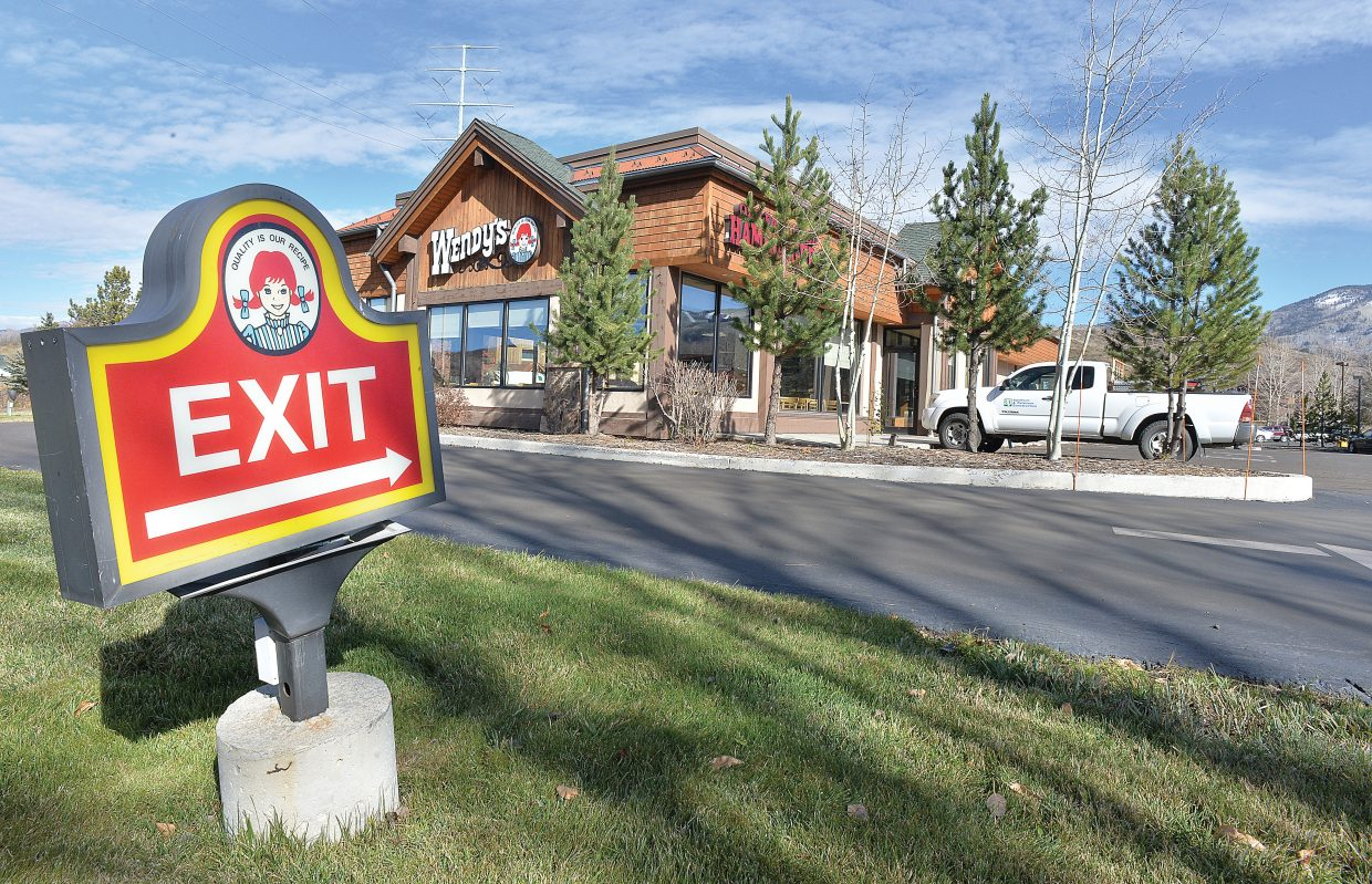 Wendy's will make its exit from Steamboat Springs this week after more than 25 years of business at the corner of Anglers Drive and U.S. Highway 40. The store was expected to close at the end of the business day Wednesday.