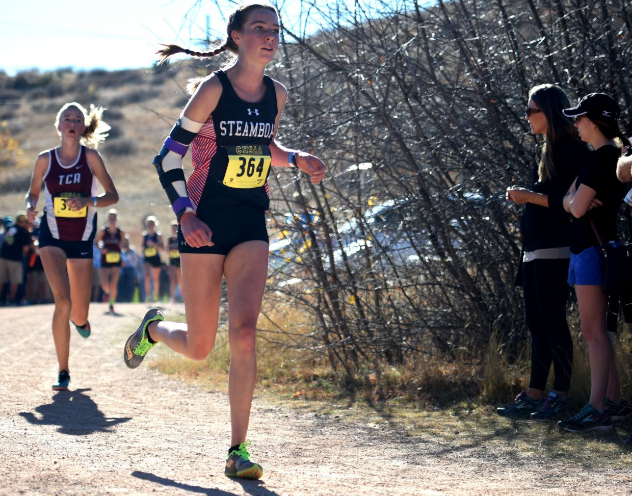 Steamboat sophomore Winter Boese runs Saturday at the Class 3A state cross country meet in Colorado Springs. Boese finished seventh, leading the way for a fourth-place overall finish for the Sailors' girls team.