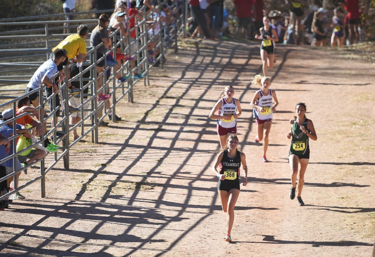 Steamboat's Kandice Kittinger runs Saturday at the Class 3A state cross country meet in Colorado Springs.