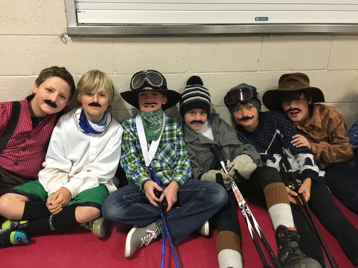 During an assembly last week, Strawberry Park Elementary fifth-grade students celebrate the work being done to restore the historic Fly Gulch Schoolhouse, a structure originally built in 1917 and first restored in the early 1990s before falling into disrepair. The house will soon have a student-created historical timeline inside.