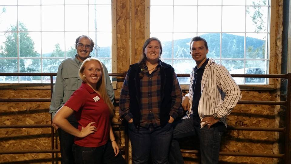 The four interns that were chosen for this year's Episcopal Service Corps program at St. Paul's Episcopal Church smile for a photo at the annual Community Barbecue & Barn Dance in support of the Boys & Girls Club. The interns include, from left, Michael Mazzarella, Weslie Detwiler, Anna Holleman and Chris Barton.