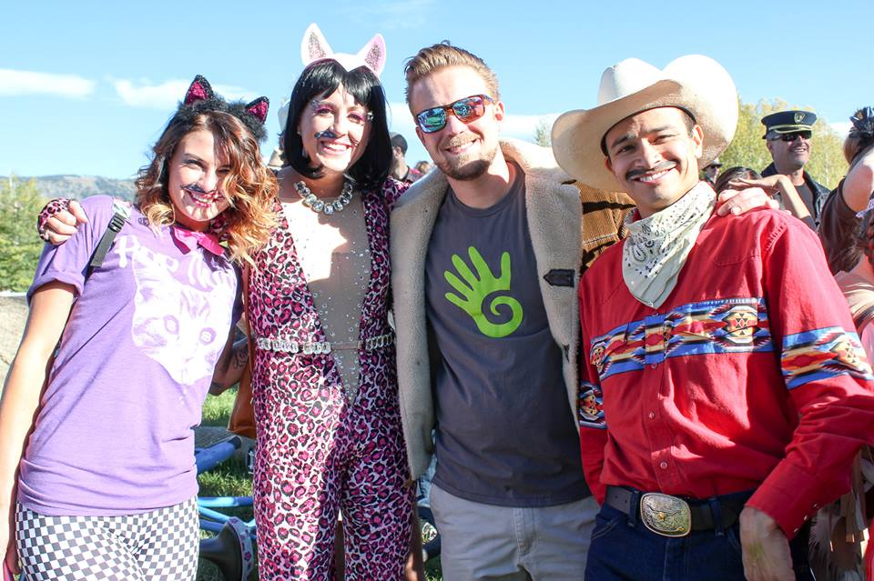 At last weekend's 2014 Mustache Ride, Nicole Curd, Meg Rose, Matt Eidt and Brian Berge pose for a picture.