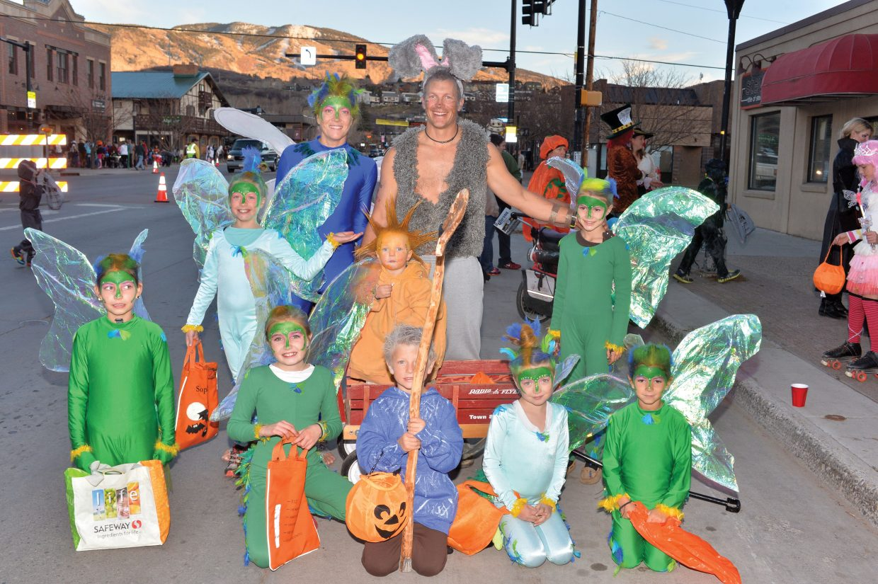 The Picking family, friends and other relatives brought the Rise of the Guardians to Lincoln Avenue for Friday night's Downtown Halloween Stroll. The annual holiday event drew hundreds of children, and their parents to downtown Steamboat Springs for the chance to pick up a few treats from local merchants.