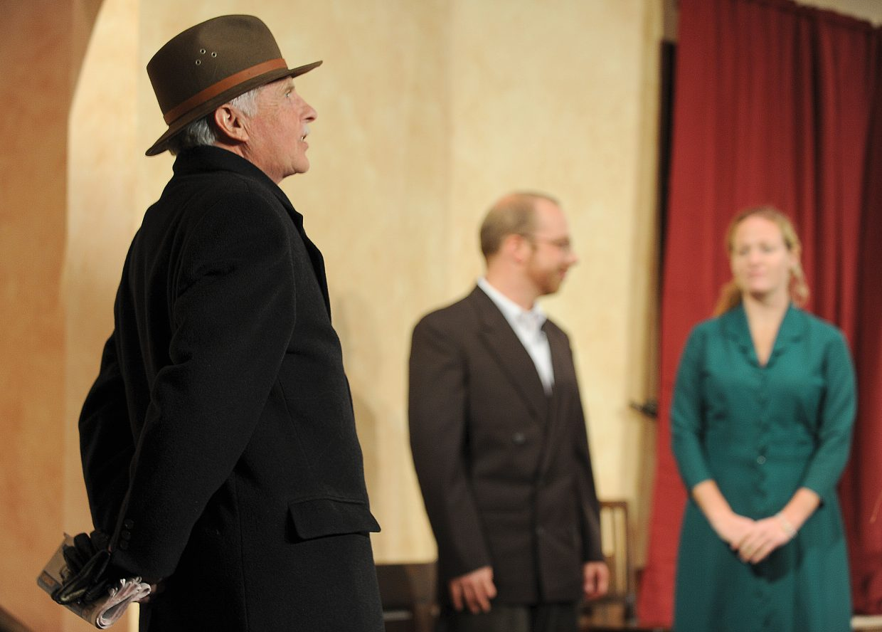 """Bill Cousins plays the part of Major Metcalf in Agatha Christie's """"The Mousetrap."""" The production opens at 7 p.m. Friday."""