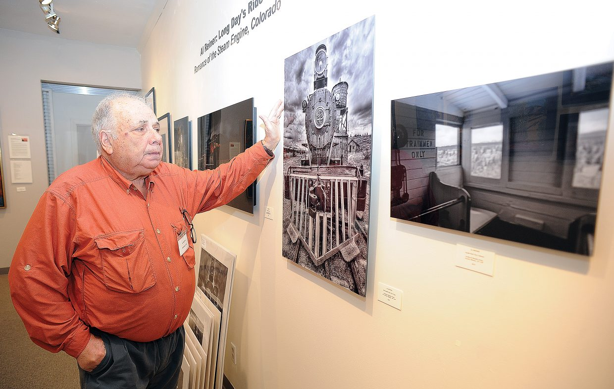 Al Reiner talks about one of the photographs he currently has on display at the Steamboat Springs Center for Visual Arts in downtown Steamboat. Reiner's most recent work focuses on trains.