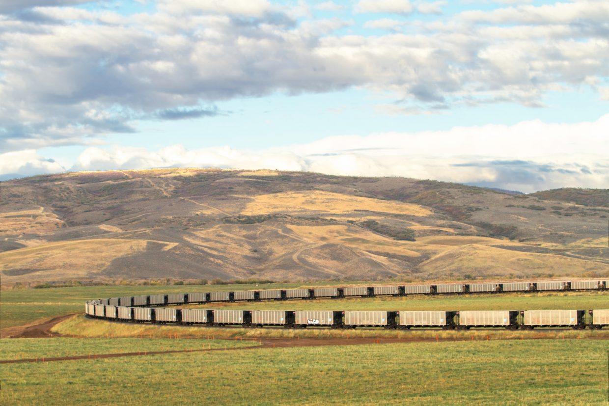 Empty box cars wait to be filled with coal from Twentymile Mine in West Routt County.