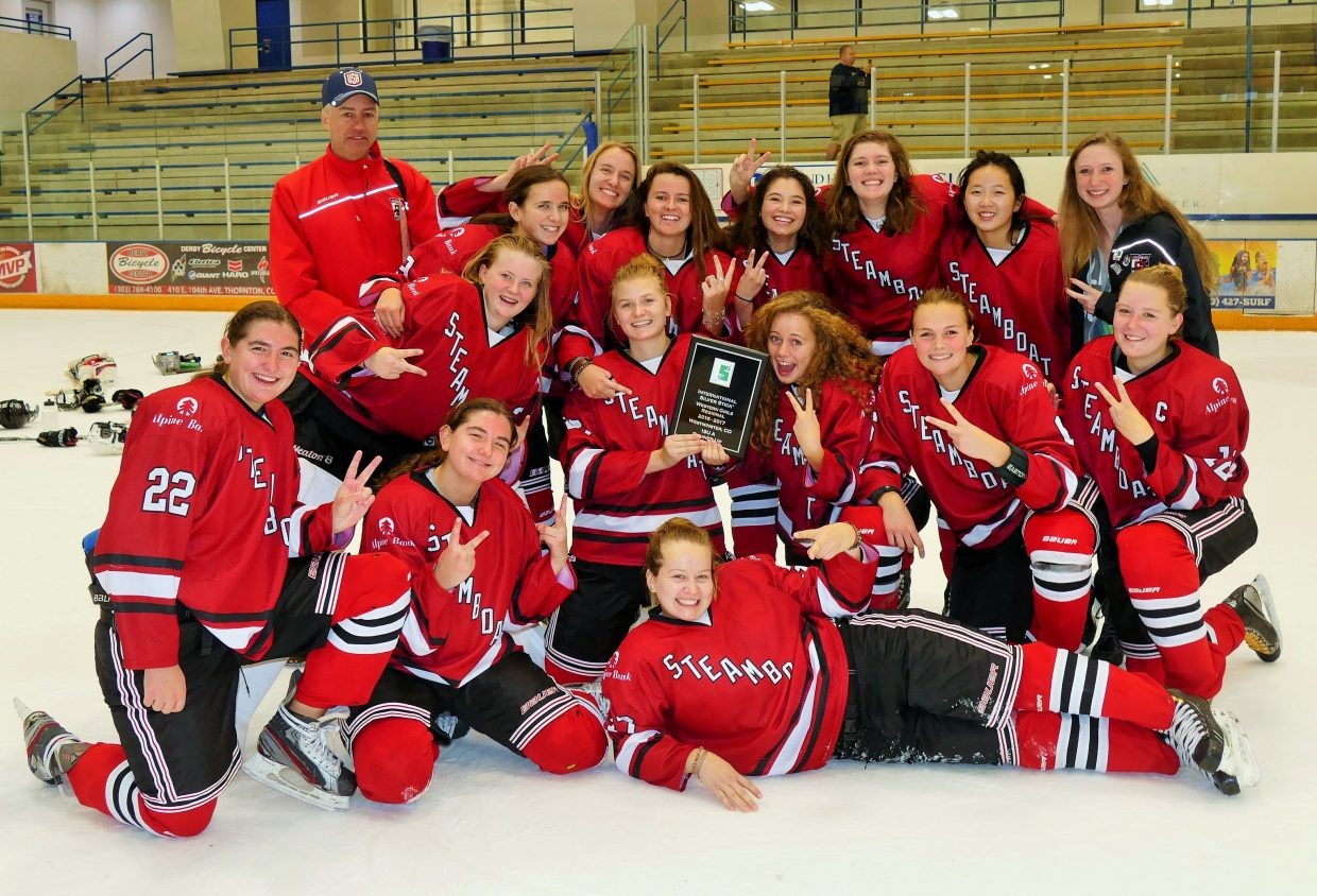 The Steamboat Springs Youth Hockey Association's U19 girls team placed second last weekend in the Western Girls Regional Silver Stick Tournament in Westminster. The squad advanced to the championship game before losing to a team from Illinois, the Naperville Sabers, 4-0.