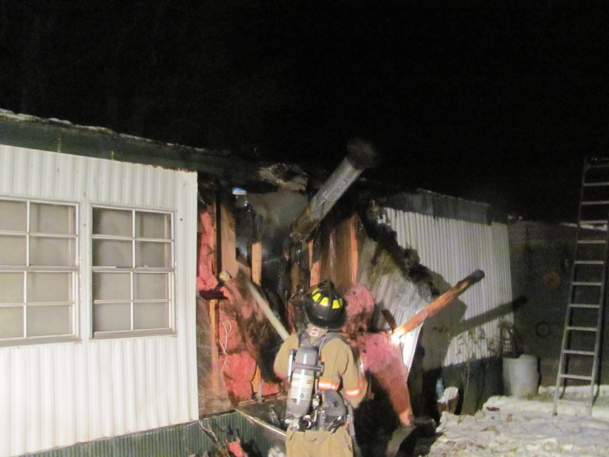 At 12:18 a.m. Sunday, crews from Oak Creek Fire Rescue responded to a call for a structure fire in a mobile home on East First Street in Oak Creek. The fire appears to have started from either a chimney fire or a wood stove installation deficiency. Crews made a quick knockdown and kept damage of the mobile home to a minimum.