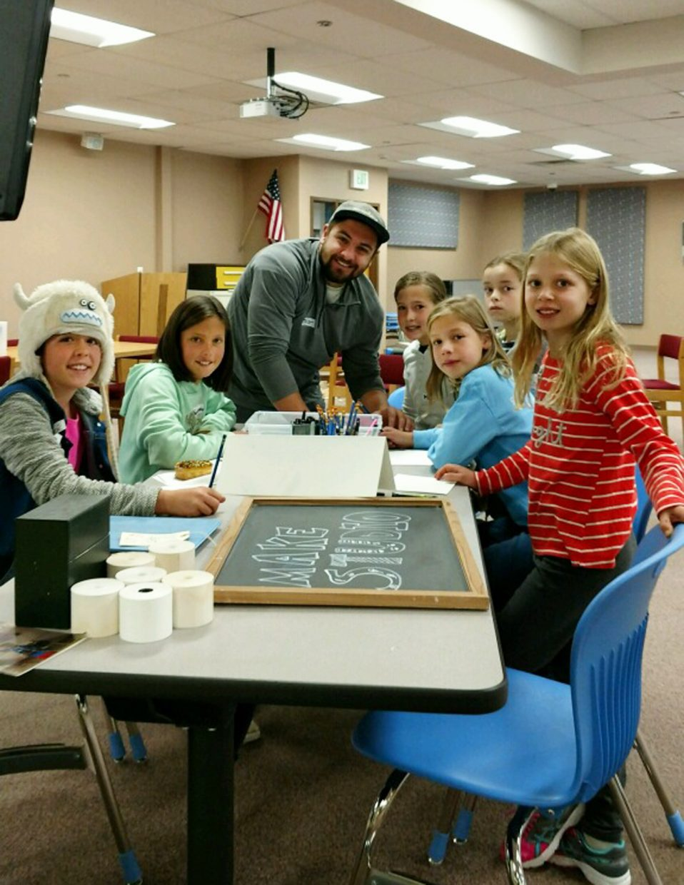 Students in third through seventh grade learned about fiber arts, comic strips and other arts during a MakerSpace celebration at Steamboat Springs High School on Thursday.