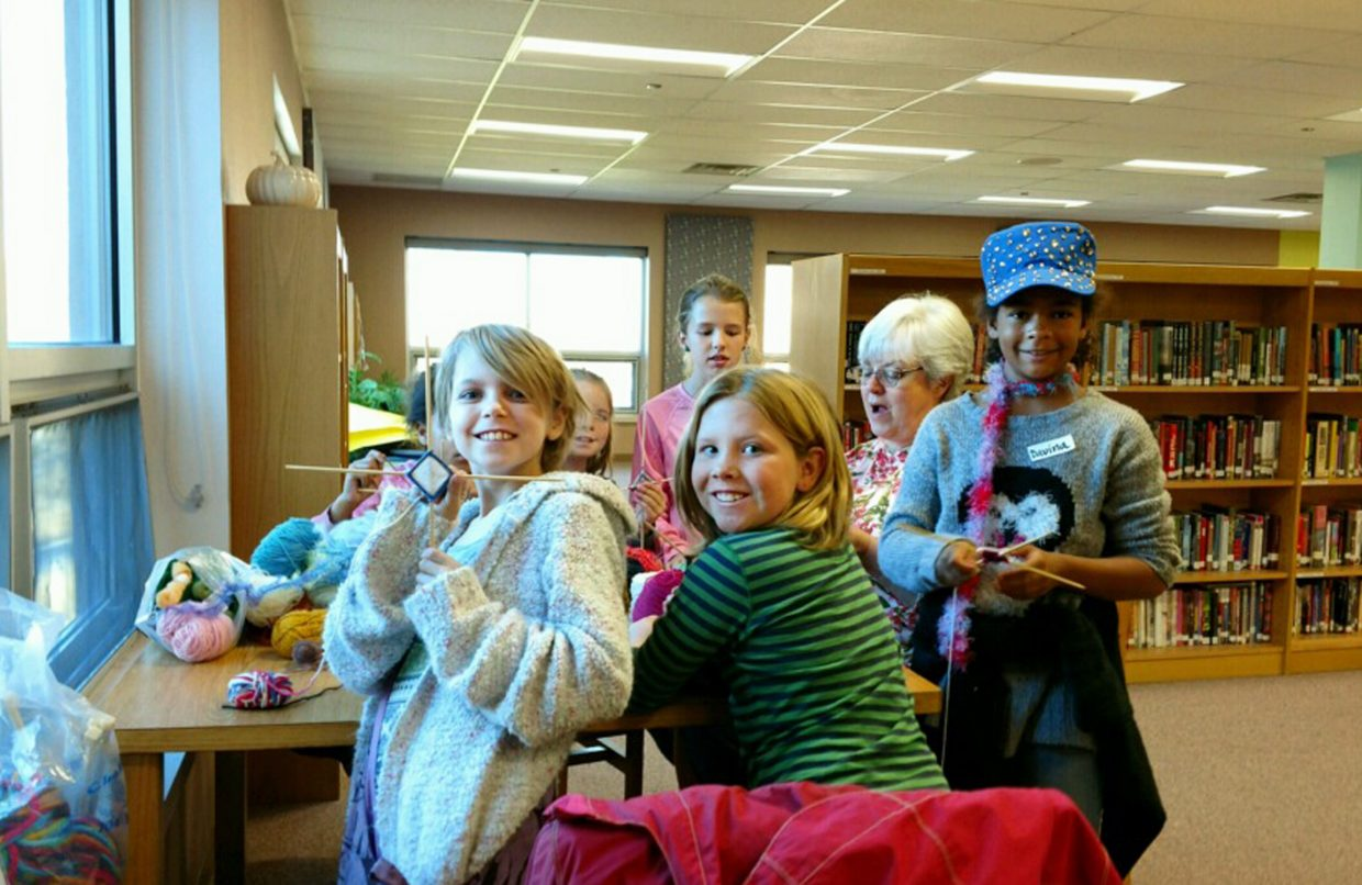 Students in third through seventh grade learned about fiber arts, comic strips and other arts during a makerspace celebration at Steamboat Springs High School Thursday.