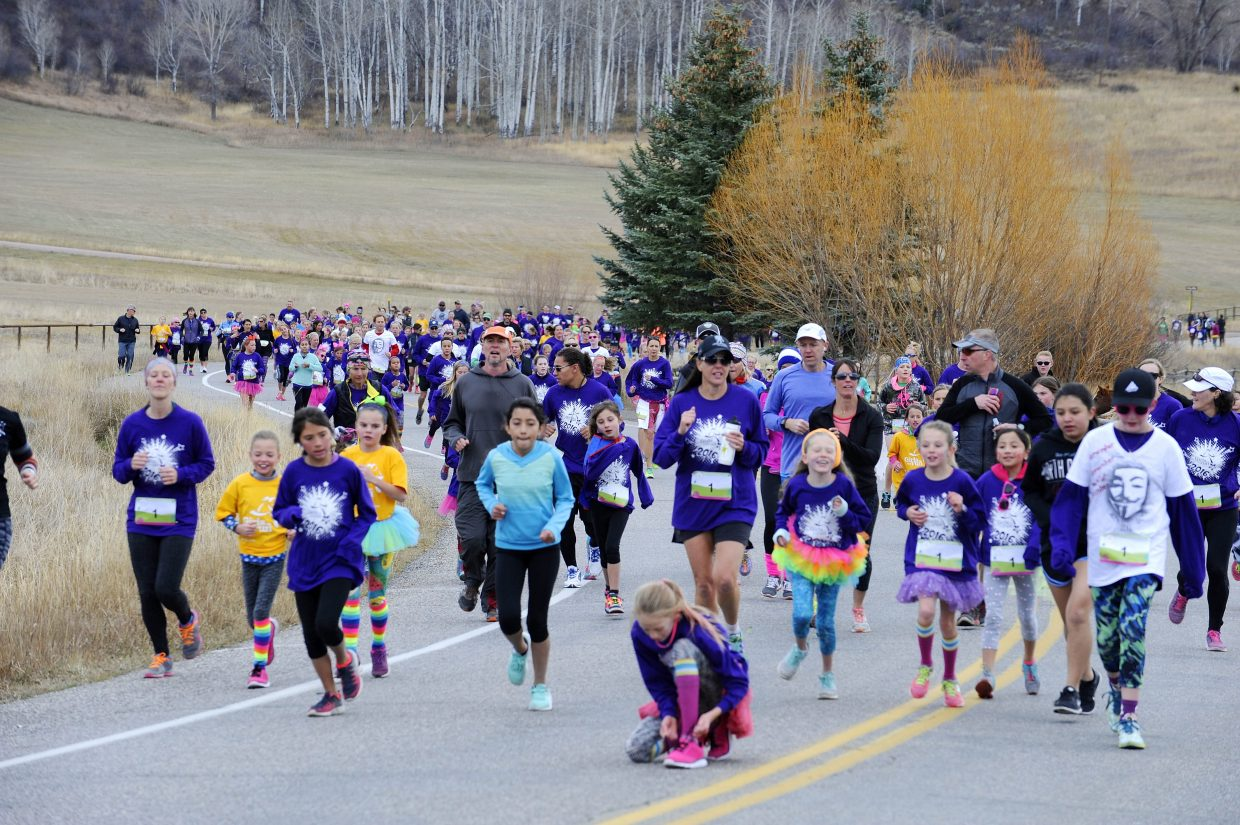 Runners from throughout Colorado participate in the Girls on the Run event in Steamboat Springs.