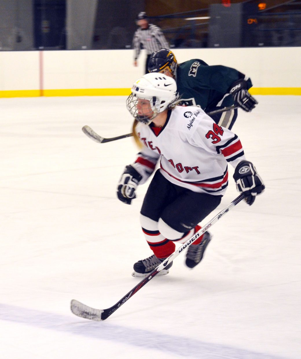 Sammy Stabile plays during the weekend at the Aspen Fall Face Off hockey tournament in Aspen.