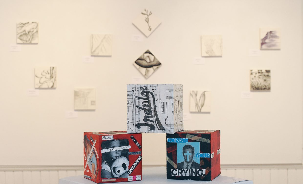 Colorado Mountain College students and faculty art show will open this Friday at the Depot Art Center. The show challenged the artist to find meaning and expression within a small space (6-inch-by-6-inch format) using a variety of media.