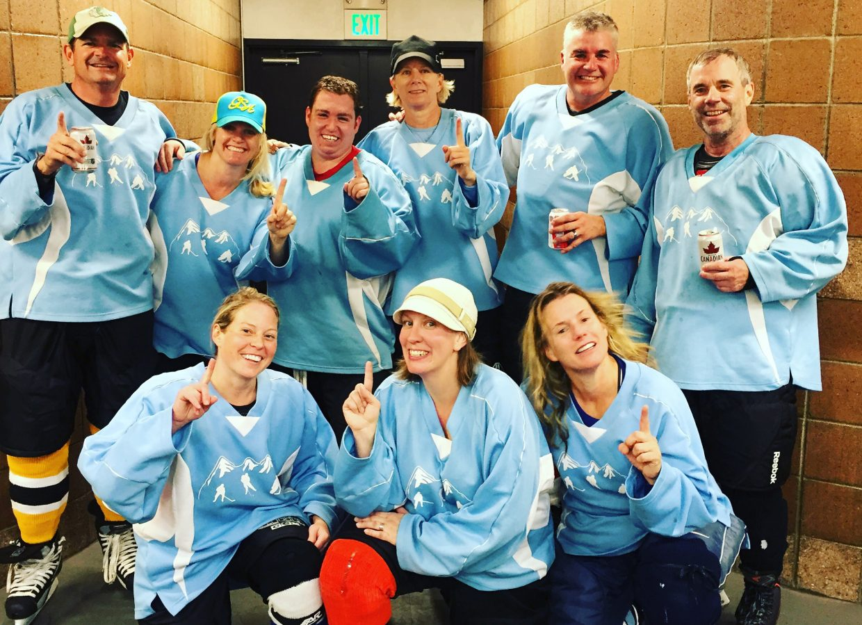 Team Puck It won the C League hockey championship last week at Howelsen Ice Arena in Steamboat Springs.