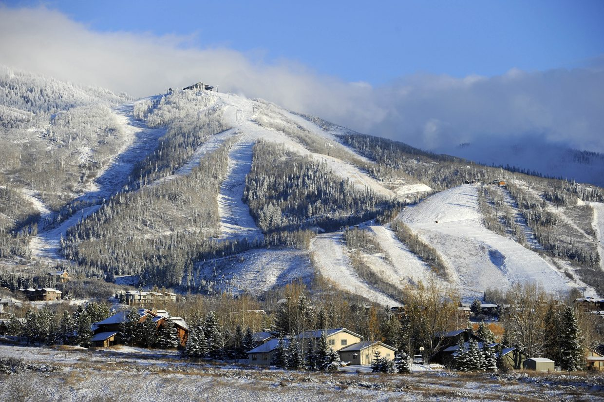 The sun came out late Friday afternoon after 17 inches of snow fell at the Steamboat Ski Area in 48 hours.