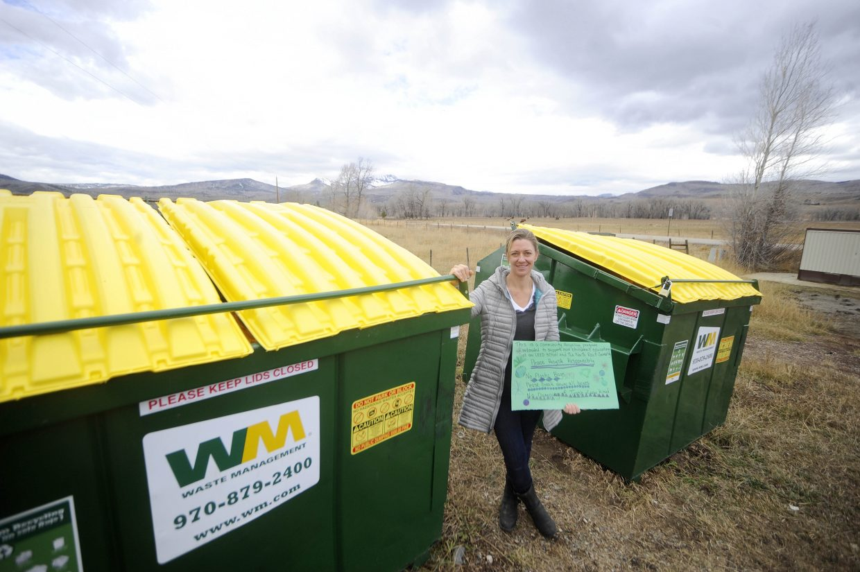 Kelly Subr led an effort to establish a recycling program for the North Routt County community.
