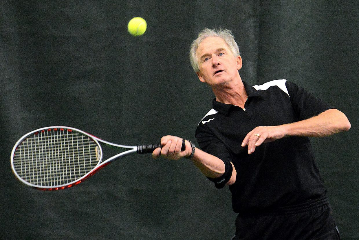 Steamboat Springs Jim Simon plays in the Steamboat City Singles and Doubles Championships a few years ago.