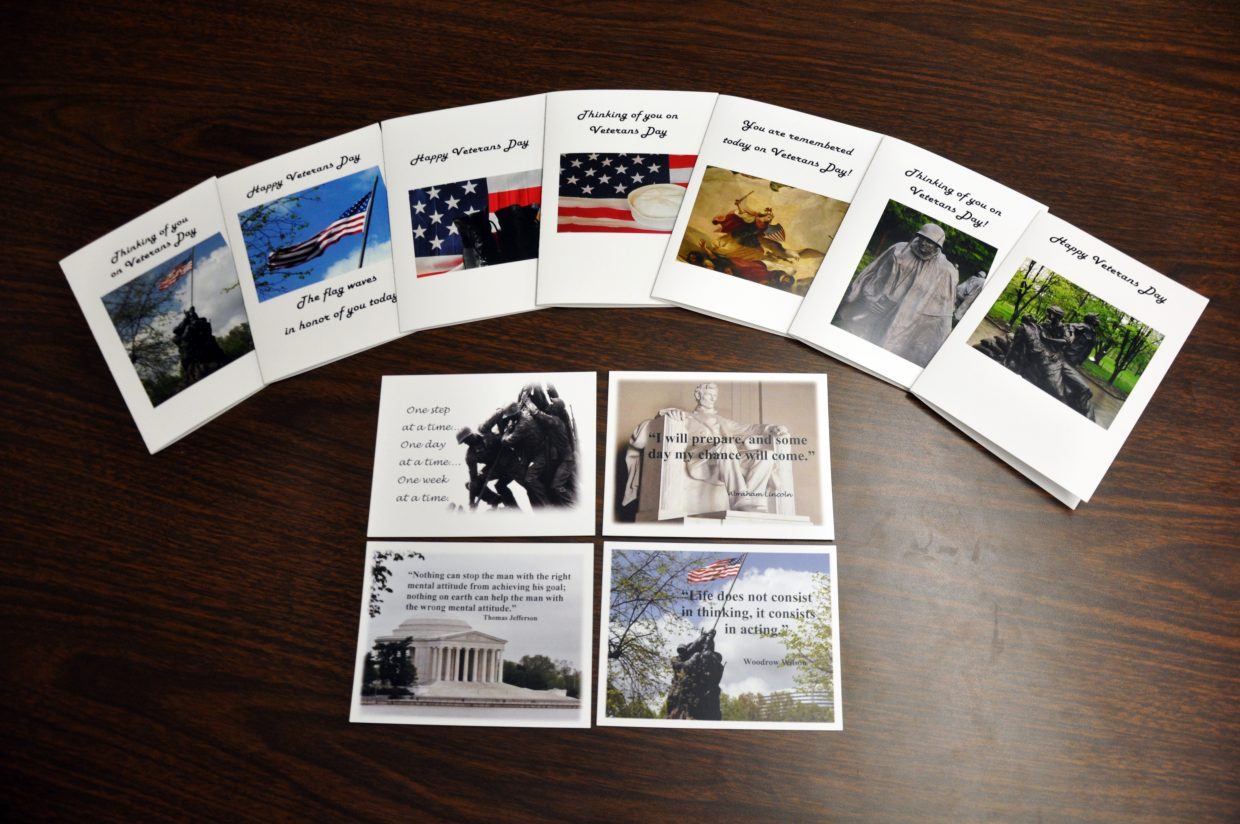 After sending letters to her son daily while he was in basic training for the U.S. Air Force, local teacher Carlene Heald was inspired to start making inspirational cards for other military families. They are available at some local retailers including Lyon Drug.