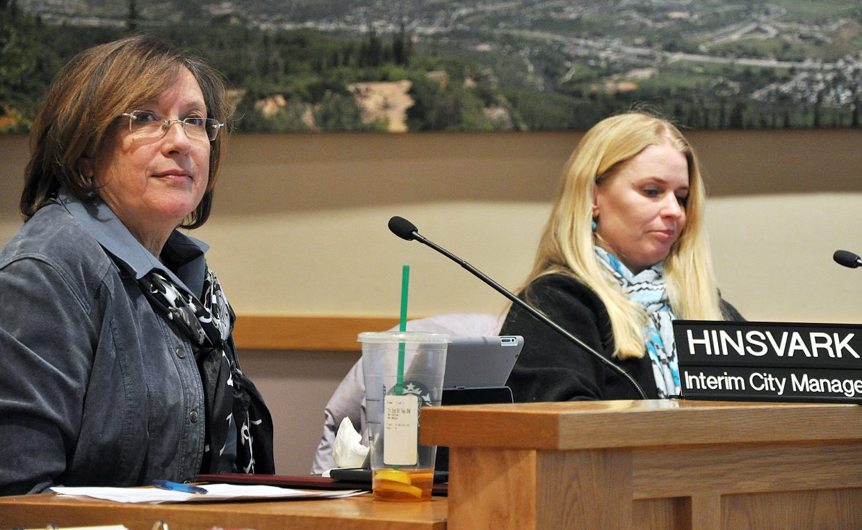 The Steamboat Springs City Council has scheduled an executive session for Feb. 24 to discuss the job performance of City Manager Deb Hinsvark. A strong majority of the council backed Hinsvark Tuesday night after two council members sought her resignation.