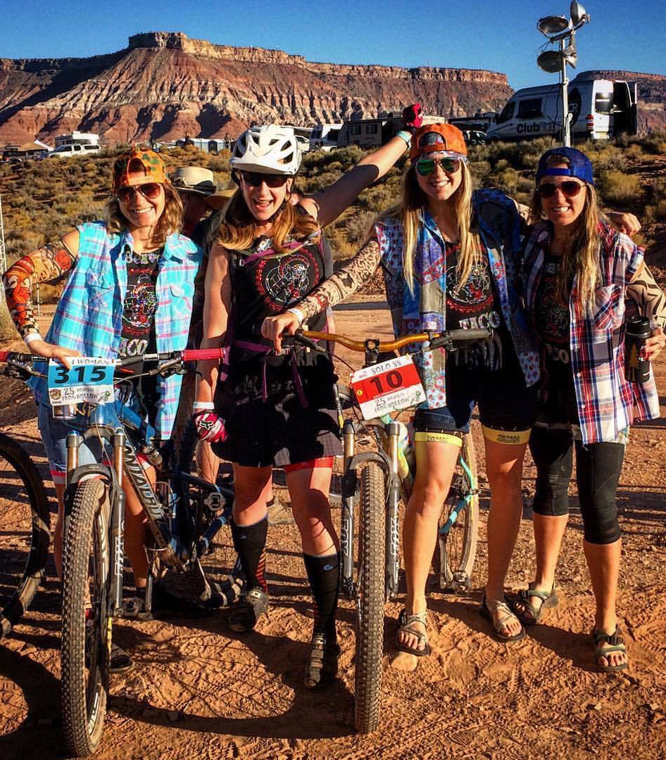 Helen Beall, Liana Jones, Miranda Schorck and Erin Early made up the team Stingers of the Park Range last weekend at the 25 Hours at Frog Hollow in Hurricane, Utah. The foursome won the women's four-rider team division at the annual mountain bike race.