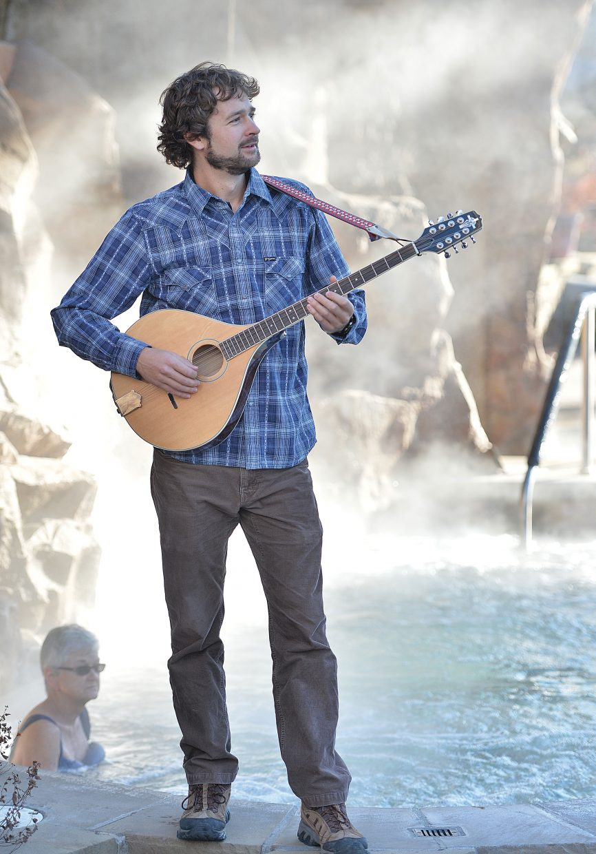 Local muscian Andrew Henry supplements his band gigs with a job at the Old Town Hot Springs. Henry is currently playing with Missed the Boat and Sage & Friends.