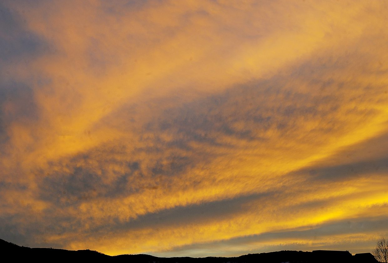 The sun sets on the Yampa Valley on Thursday evening in Steamboat Springs.