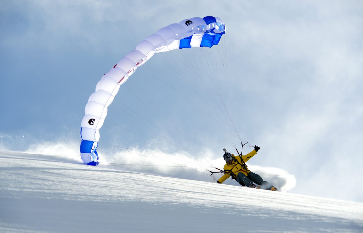 """JT Holmes skis in Kazakhstan in Warren Miller's new film """"Ticket to Ride."""" The ski movie will show at 6 and 9 p.m. Friday and at 3, 6 and 9 p.m. Saturday."""