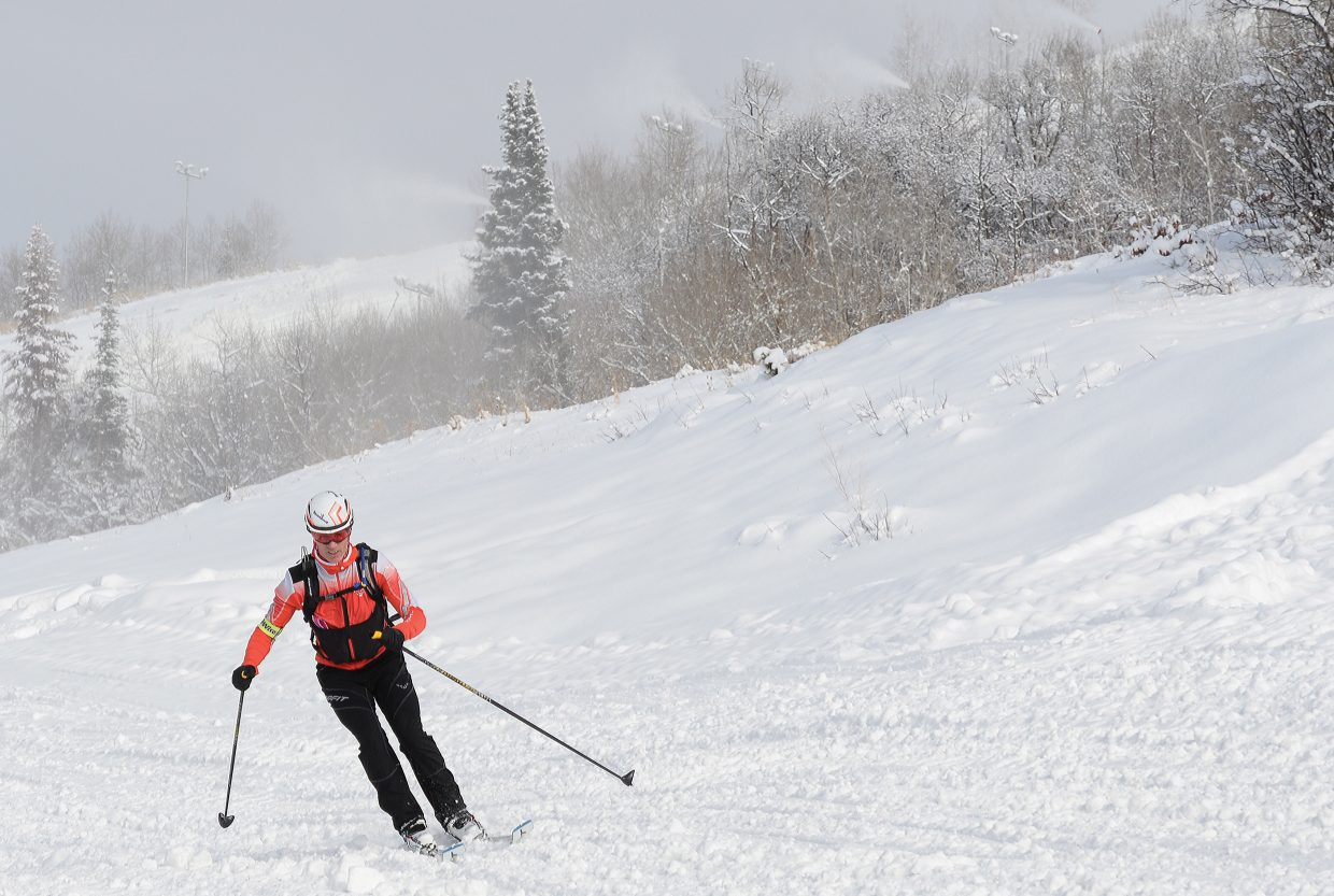 Steamboat Springs skier Gordon Watson couldn't wait for the ski area to open this year, so he hiked up the mountain to make his first runs of the year. But for those who prefer to ride the chairlift, Steamboat Ski Area announced Tuesday that it plans to open for the season early on Saturday and Sunday allowing riders to access 1,100 vertical feet off of the Christie Peak Express chairlift. The ski area will resume daily operations on Nov. 25 with the annual Scholarship Day, which supports the Steamboat Springs Winter Sports Club's scholarship programs. Officials said skiers should expect to ski down from the gondola on that day and possibly access some upper mountain terrain as well.