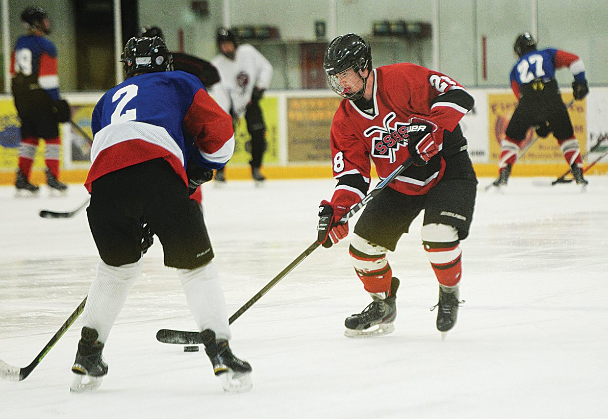 Steamboat Springs senior Colin Musselman is excited to get on the ice this season and is proud to play for the Steamboat Springs High School hockey team.