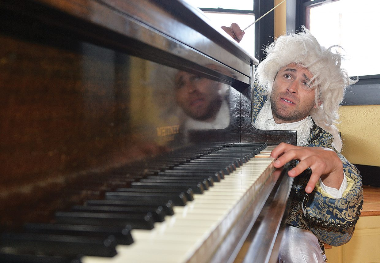 """Alex Handloff, playing the part of Wolfgang Amadeus Mozart, will be featured in """"An Evening with Mozart."""" The performance, which also will feature the Steamboat String Quartet, will take place 7 p.m. Friday and Saturday."""