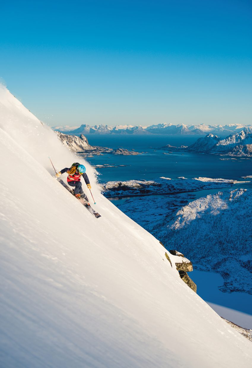 """This screen shot is of Kaylin Richardson skiing in Norway during Warren Miller's film, """"No Turning Back,"""" which was screened in Steamboat Springs last year. This weekend, Warren Miller's new film """"""""Chasing Shadows"""" will be showing 7 p.m. on Friday in addition to Saturday at 4 and 7 p.m. at the Chief theater."""