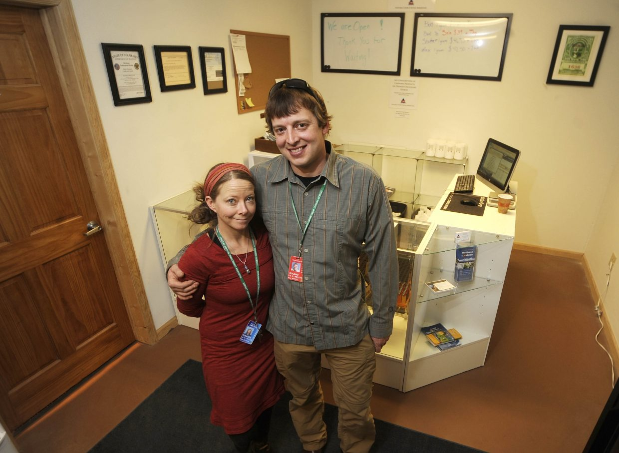 Natural Choice owners Roland and Mia French began sales of marijuana for recreational use in 2014.