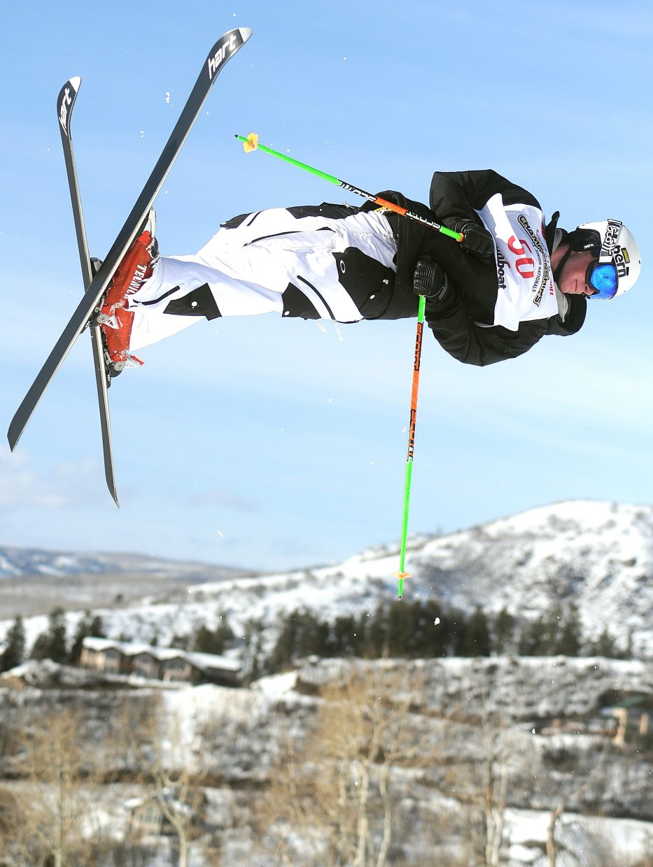 Michael DeGrandis flies high during a 2011 freestyle skiing event in Steamboat Springs. DeGrandis just missed on two chances to make the U.S. Ski Team that season.