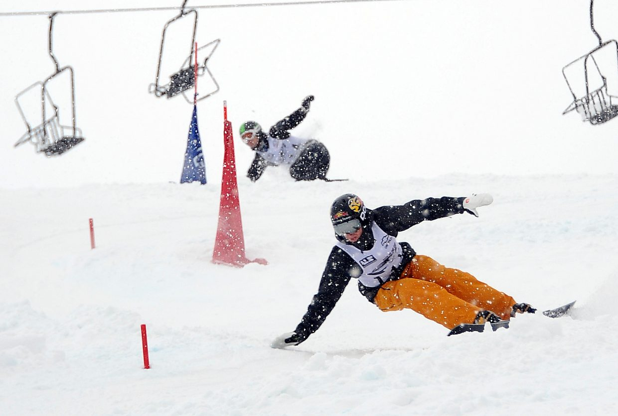 Justin Reiter rides in a Race to the Cup event in Steamboat Springs in 2012.
