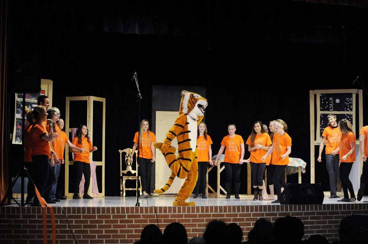 Hayden High School students perform Saturday during the Fall Musical Mash-Up.