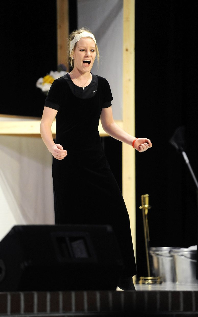 """Grace Wilkie performs """"Defying Gravity"""" from """"Wicked."""""""