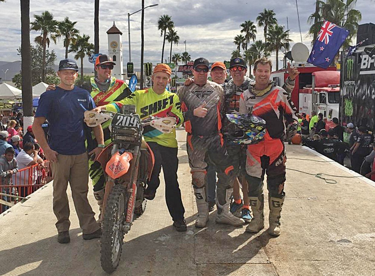 A team based out of Steamboat Springs, that includes Steamboat racers Hank Salyer, Casey O'Donnell and Josh Scott and support person Chad James, placed fourth in its division at the SCORE Baja 1000 last weekend. The race started and finished in Ensenada, Mexico, and the course included 830 miles of off-road racing.