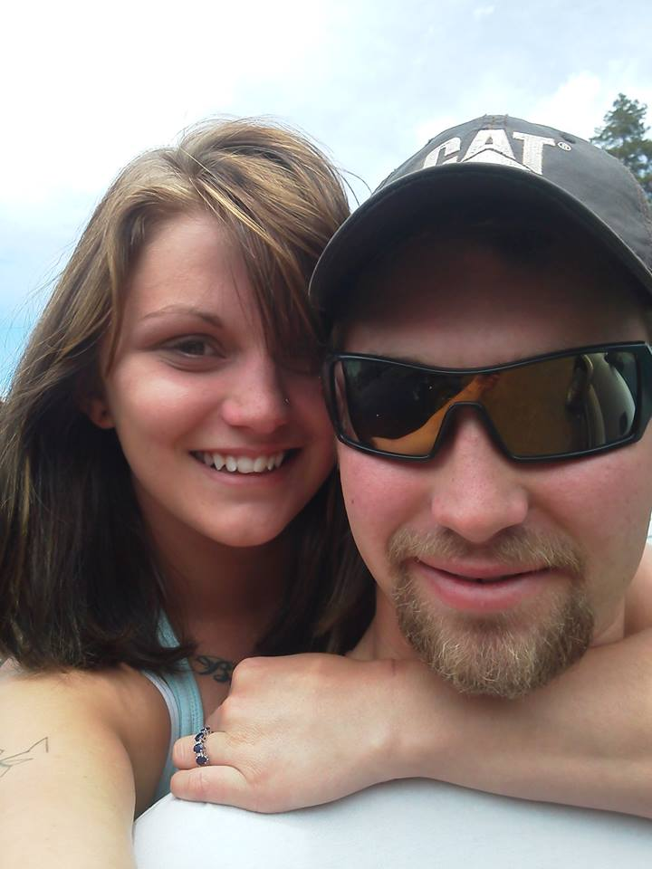 Homicide victim Patricia Richmond with her fiance Keith West.