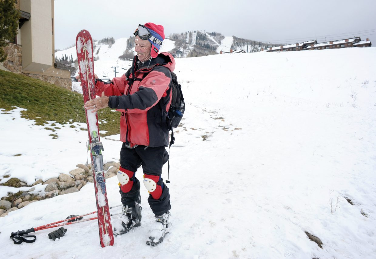 Rick Restall just couldn't wait to get back on skis this season. He hiked up the slopes Monday to take an early season run. Steamboat Ski Area is scheduled to open Wednesday with Scholarship Day. Skiers and snowboarders can access the upper trails by purchasing a $30 lift ticket, or can chose to access the lower mountain with a $20 lift ticket.