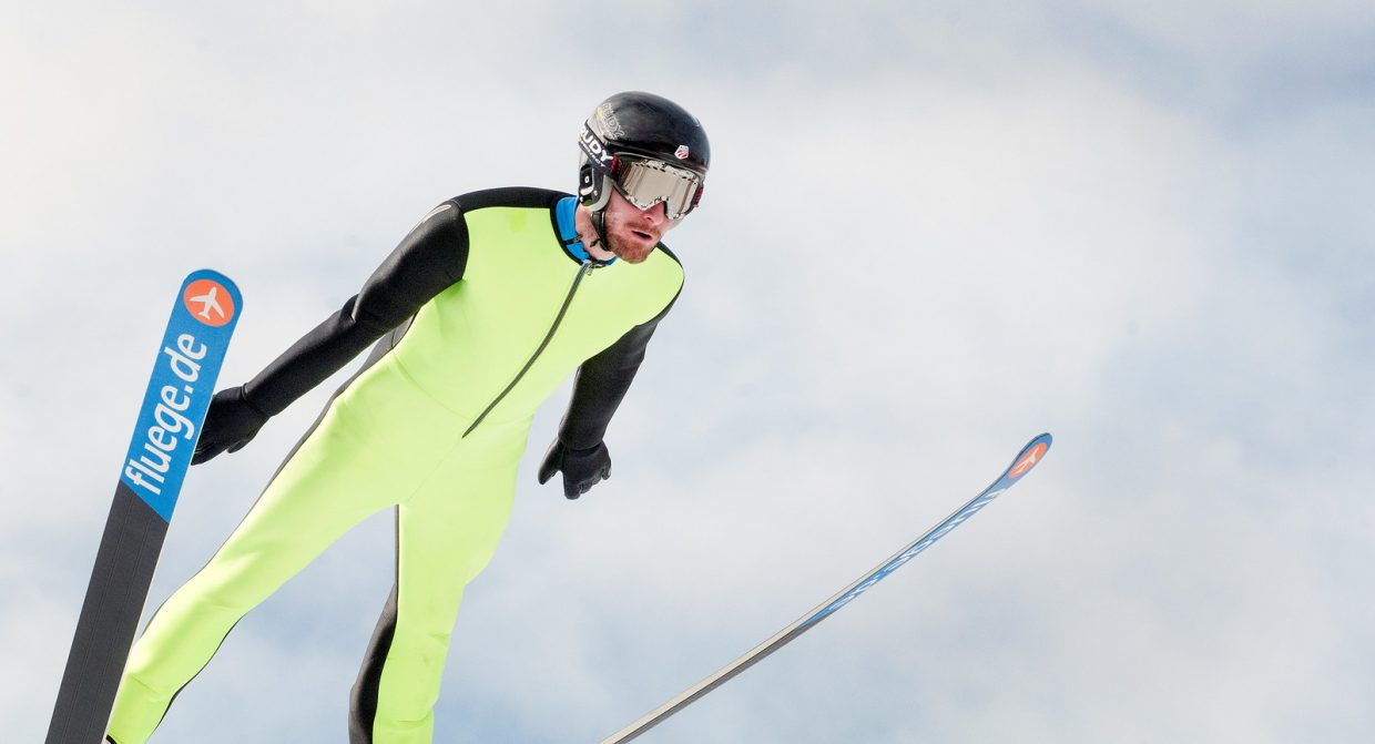 U.S. Nordic combined Ski Team veteran Taylor Fletcher jumps in Park City, Utah during training earlier this month. The squad, with Bryan Fletcher, Taylor Fletcher, Jasper Good and Adam Loomis, is in Finland this week preparing for the start of the World Cup season.