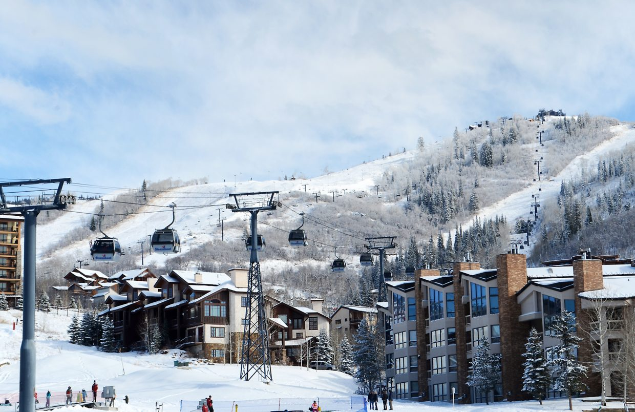 Skiers and snowboarders who shook off their turkey hangovers early Friday morning were treated to a powder day at the Steamboat Ski Area with four inches of fluff at mid-moumtain. By mid-morning skiers leaving the slopes said the trail were still soft under blue skies.