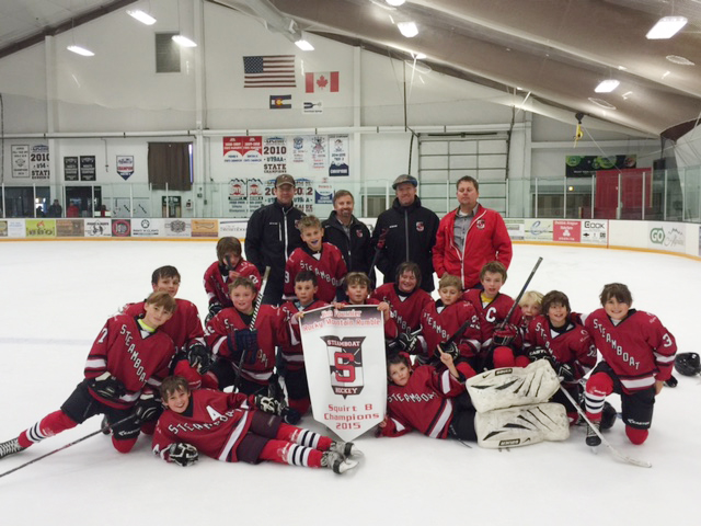 Steamboat's Squirt B team won a tournament at home earlier this month, bouncing back from a 2-0 deficit with less than a minute remaining in the championship game to force overtime, where it eventually won.
