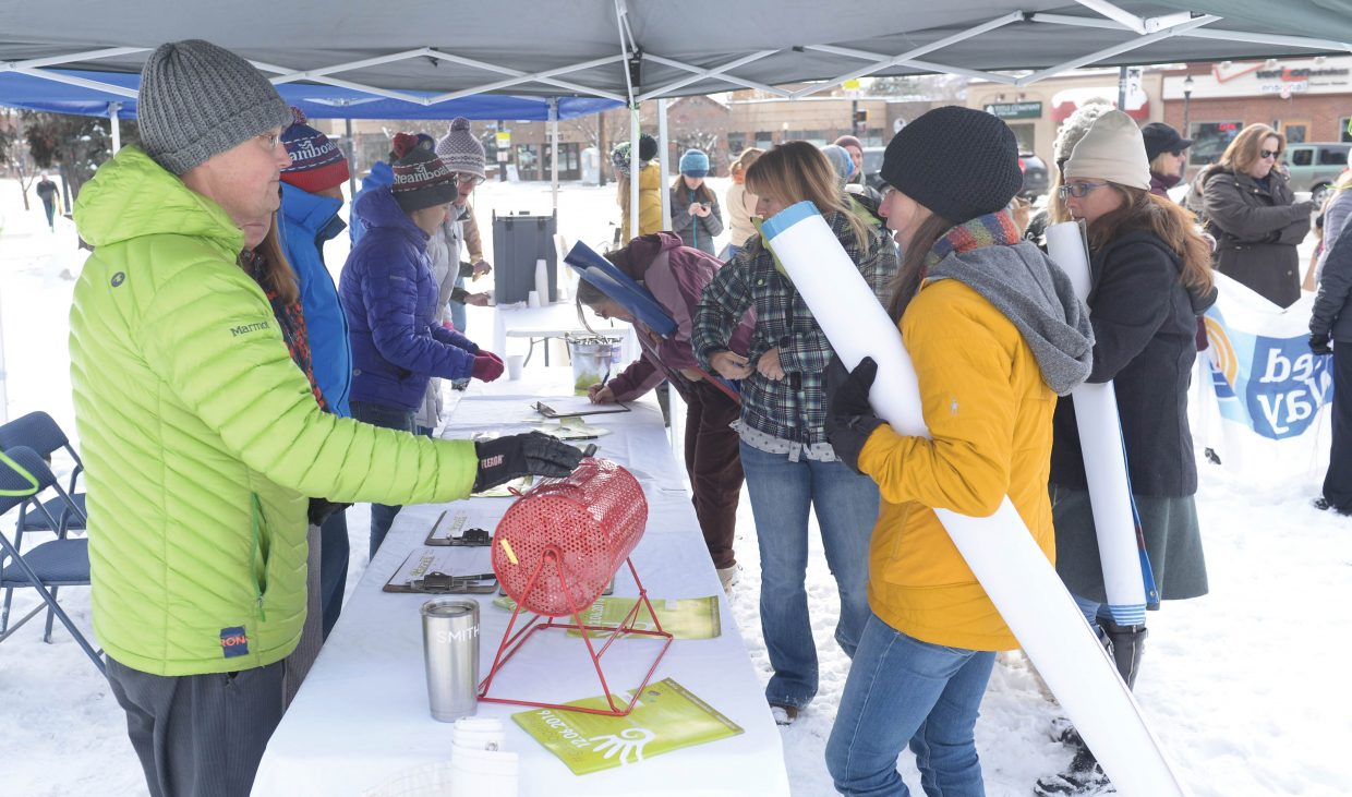 Volunteers and nonprofits sign up to help out Dec. 6 on Yampa Valley Gives Day, which is held in conjunction with Colorado Gives Day. The annual event is a chance for locals to go to yampavalleygives.org and make a charitable donation to one of more than 50 local nonprofits in Routt County.