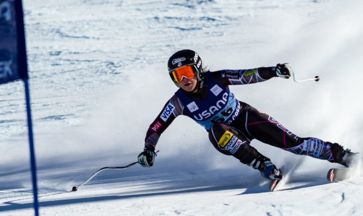 Steamboat Springs Alpine skier Anna Marno races in the super-G before crashing on the course at the Raptor Women's World Cup at Beaver Creek.