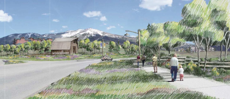 A plan to reconstruct the historic Butterfly Barn near the entrance of Steamboat Ski Area was one of the base area projects in the design phase this year.