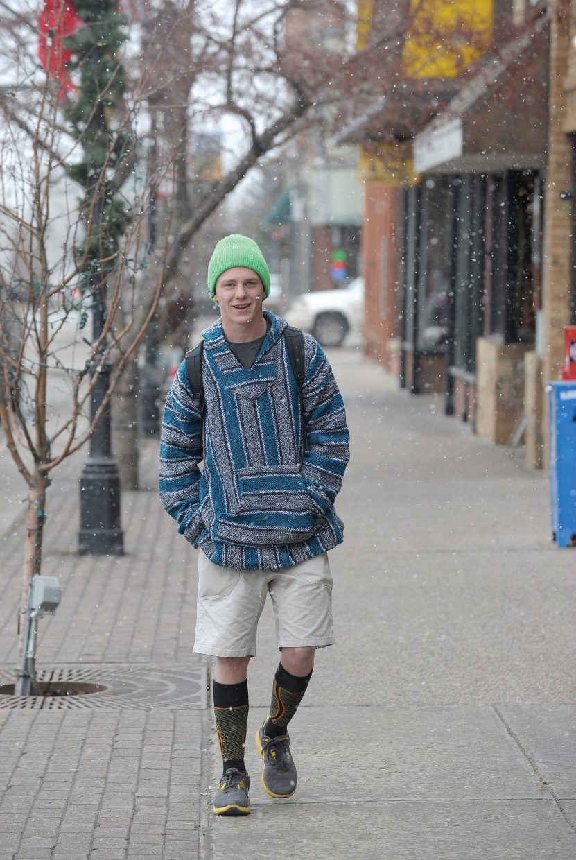 Steamboat Springs' Nathan Parks wasn't about to let a little snow stop him from wearing shorts Tuesday while walking through downtown Steamboat Springs. However, the expected drop in temperatures the next few days might force Parks to rethink the whole pants thing. An automated forecast by the National Weather Service for Storm Peak at the top of Steamboat Ski Area expects between 15 and 23 inches of snow to fall overnight and during the day Wednesday. The forecast also places the chance of snow in the downtown area Tuesday night through the day Wednesday at 90 percent, with accumulations of 7 to 13 inches.